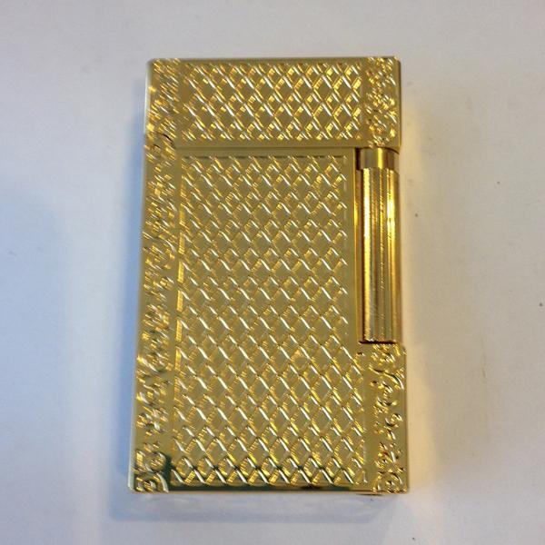 Bật lửa S.T.Dupont gold viền hoa lá vân kim cương - 0988 00 11 31