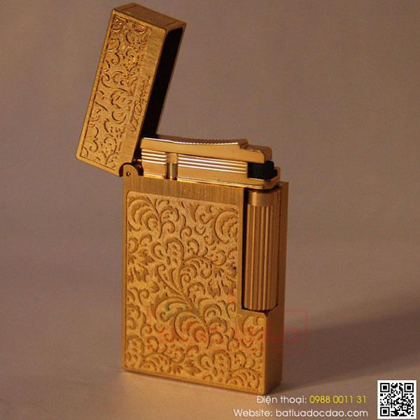 Bật lửa S.T.Dupont gold hoa văn hoa lá tinh xảo - 0988 00 11 31