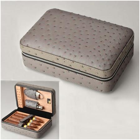 Set hộp giữ ẩm xì gà 4 điếu có dao cắt và bật lửa Lubinski Mã SP: S005