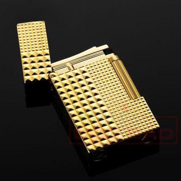 Bật lửa S.T.Dupont màu vàng vân kim cương to nhỏ  - 0988 00 11 31