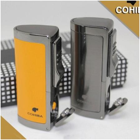 Bật lửa khò hút Cigar (xì gà) Cohiba chính hãng loại 3 tia lửa cực mạnh - Mã SP: BLH036