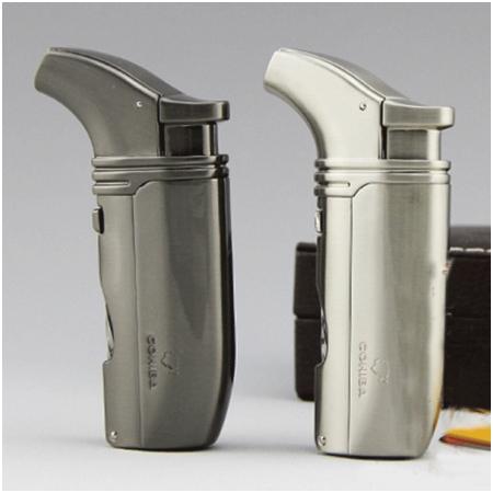 Bật lửa khò hút Cigar (xì gà) Cohiba chính hãng loại 2 tia lửa có 2 thiết bị đục Xì gà - Mã SP: BLH065