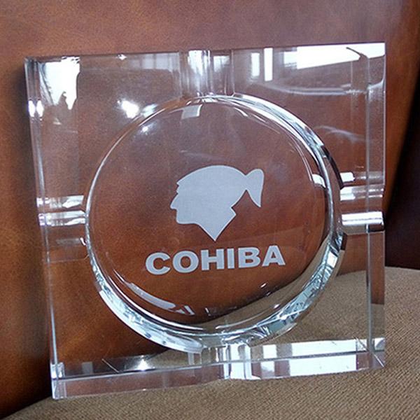 Gạt tàn Cigar Cohiba loại 4 điếu pha lê cao cấp - 0988001131
