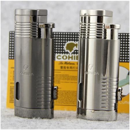 Bật lửa khò hút Cigar (xì gà) Cohiba 3 tia lửa cực mạnh - Mã SP: BLCOB32