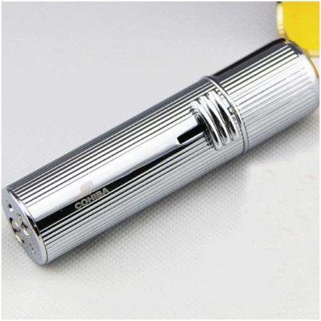 Bật lửa khò hút Cigar (xì gà) cohiba chính hãng loại 3 tia lửa cực mạnh - Mã SP: BLH073