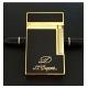 Bật lửa S.T.Dupont sơn mài đen viền vàng in logo S.T.Dupont - Mã SP: BLD02