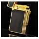 Bật lửa ST.Dupont sơn mài đen viền vàng vát cạnh - Mã SP: BLD03