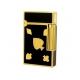 Bật lửa ST.Dupont đen viền vàng hoa văn rô cơ tép chuồn - Mã SP: BLD05