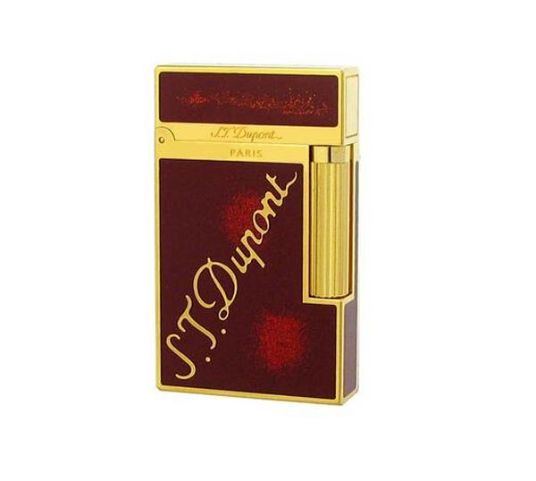 Bật lửa S.T.Dupont đỏ viền vàng khắc logo S.T.Dupont - 0988 00 11 31