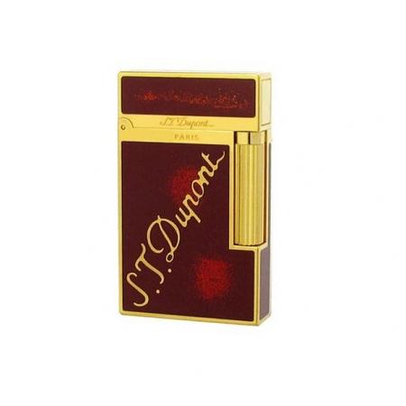 Bật lửa S.T.Dupont đỏ viền vàng khắc logo S.T.Dupont - Mã SP: BLD06