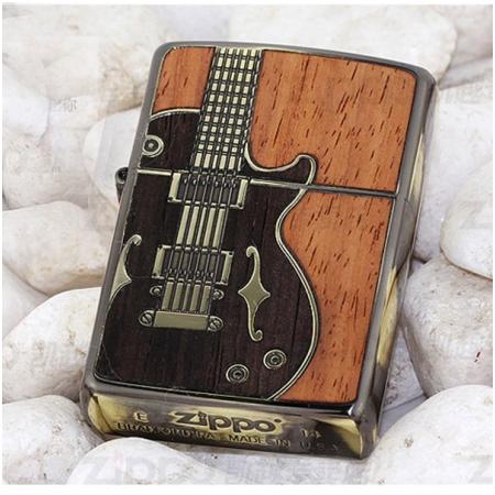 Bật lửa Zippo Mỹ khắc hình đàn guitar - Mã SP: Z106