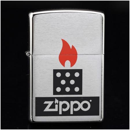 Bật lửa Zippo mỹ in hình ngọn lửa biểu tượng Zippo - Mã SP: Z110