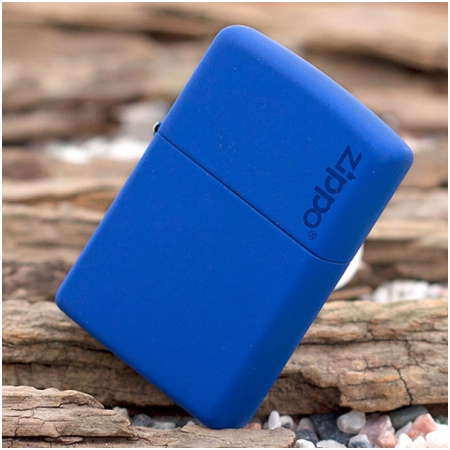 Bật lửa Zippo Mỹ màu xanh da trời khắc chữ Zippo - Mã SP: Z111