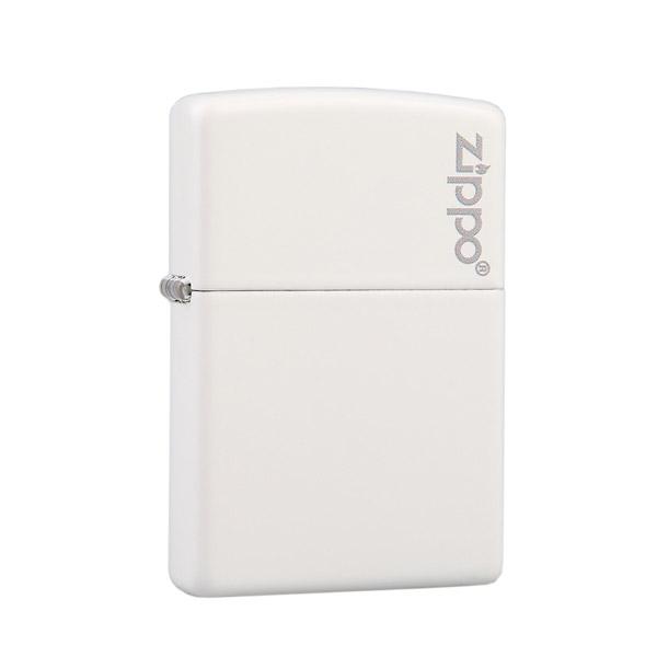 Bật lửa Zippo màu trắng khắc chữ Zippo - 0988 00 11 31