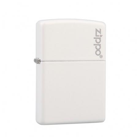 Bật lửa Zippo màu trắng khắc chữ Zippo - Mã SP: Z112