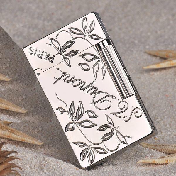 Bật lửa S.T.Dupont trắng bóng chạm hoa là và in logo S.T.Dupont - 0988 00 11 31