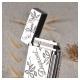 Bật lửa S.T.Dupont trắng bóng chạm hoa là và in logo S.T.Dupont - Mã SP: BLD012