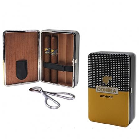 Set hộp đựng Cigar (xì gà), kéo cắt cigar chính hãng Cohiba  - Mã SP: H520