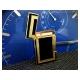 Bật lửa S.T.Dupont sơn mài đen viền vàng hoa văn chữ nhật - Mã SP: BLD016