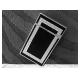 Bật lửa S.T.Dupont sơn mài đen viền trắng bạc hoa văn chữ nhật - Mã SP: BLD017