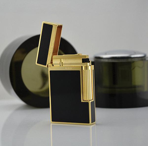 Bật lửa S.T.Dupont sơn mài đen viền vàng sang trọng - 0948868862 - 0988 00 11 31