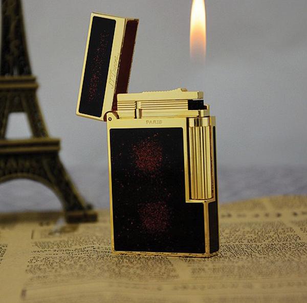 Bật lửa S.T.Dupont sơn mài đen chấm đỏ viền vàng siêu sang - 094 886 8862 - 0988 00 11 31