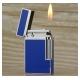 Bật lửa S.T.Dupont xanh ngọc viền trắng bạc là chiếc Dupont đang làm xiêu lòng người - Mã SP: BLD021