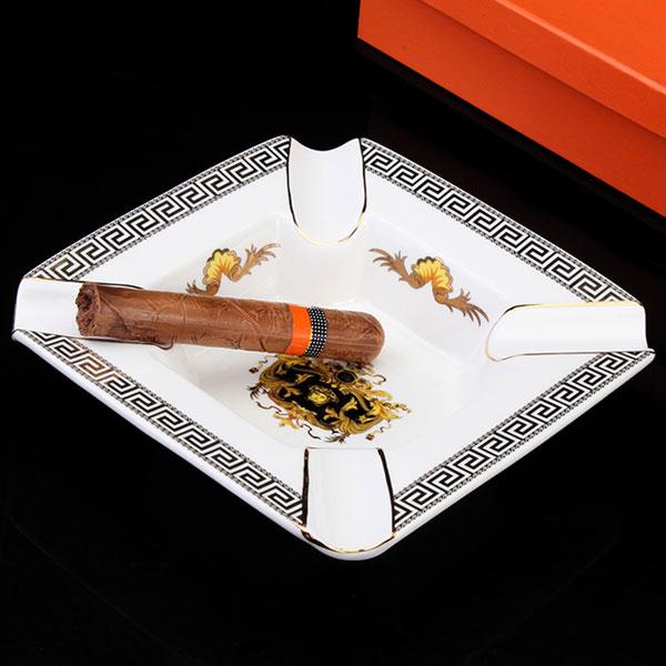 Gạt tàn Cigar Cohiba chính hãng màu trắng viền đen - 0988 00 11 31