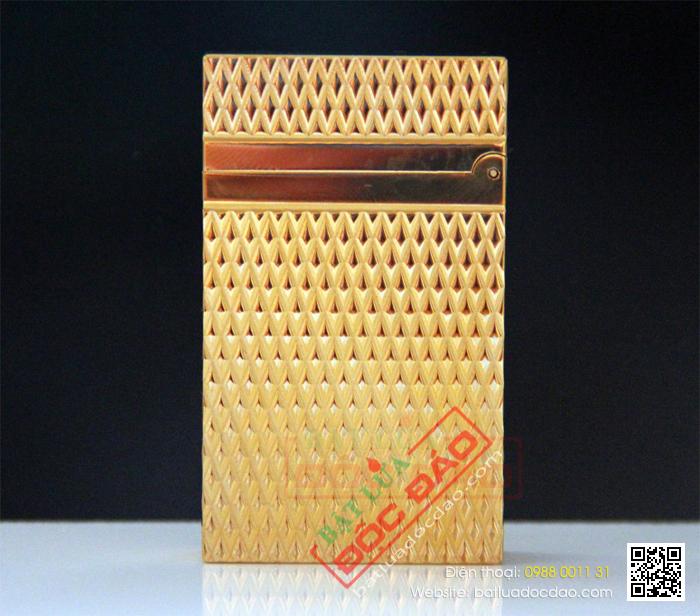 Bật lửa S.T.Dupont màu vàng vân kim cương - Mã SP: BLD082