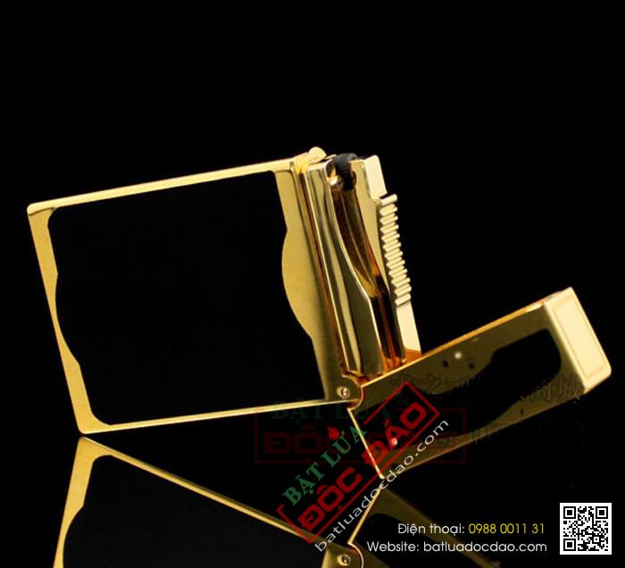 Bật lửa S.T.Dupont sơn mài đen viền vàng - Mã SP: BLD091