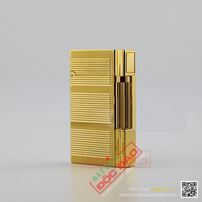Bật lửa S.T.Dupont màu vàng sọc ngang ba khúc - Mã SP: BLD112