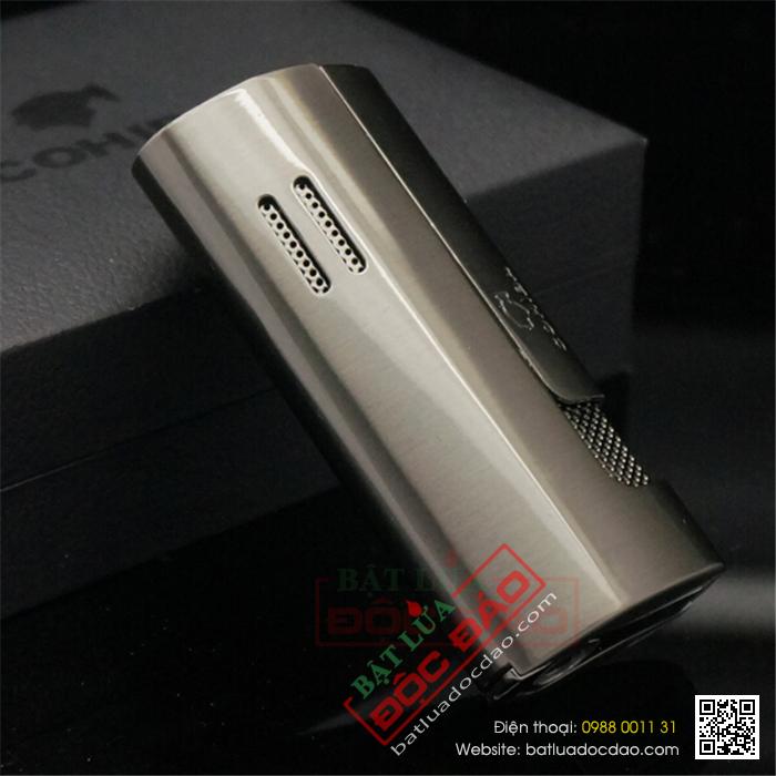 Bật lửa khò hút Cigar Cohiba chính hãng loại 3 tia lửa có thiết bị đục Cigar - Mã SP: BLH091