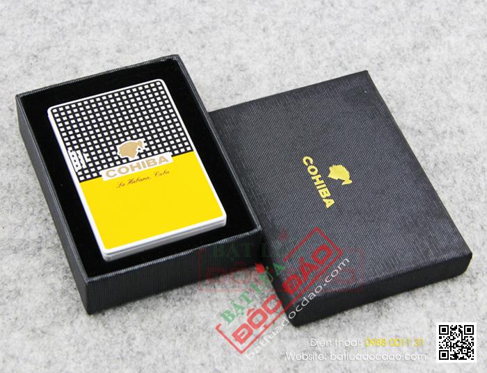 Bật lửa hút Cigar chính hãng Cohiba loại 2 tia lửa màu cam - Mã SP: BLH020
