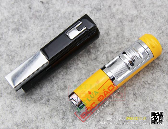 Bật lửa khò hút Cigar Cohiba chính hãng loại 2 tia lửa, trang bị đục lỗ Xì gà - Mã SP: BLH051