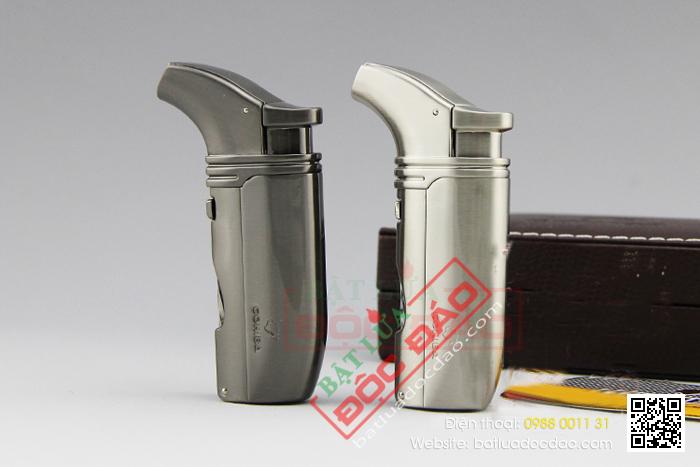 Bật lửa khò hút Cigar Cohiba chính hãng loại 2 tia lửa có 2 thiết bị đục Xì gà - Mã SP: BLH065