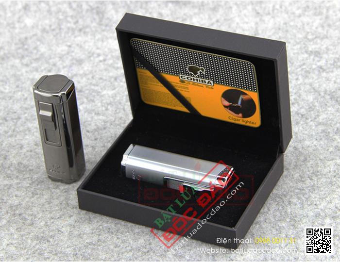 Bat lua Cigar hop quet Cigar Cohiba H004 cao cap
