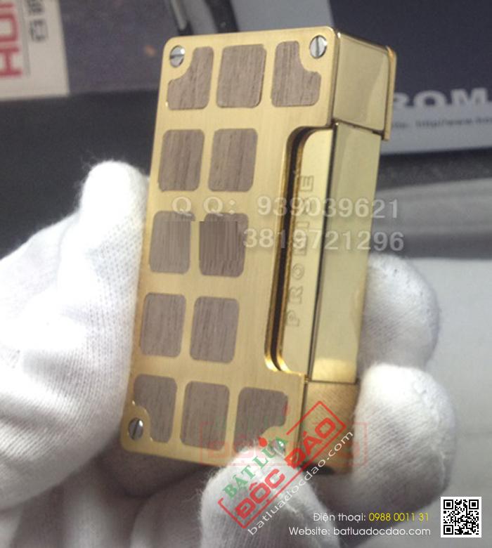 Bật lửa gas Promise hoa văn ô vuông - Mã SP: BLBN306