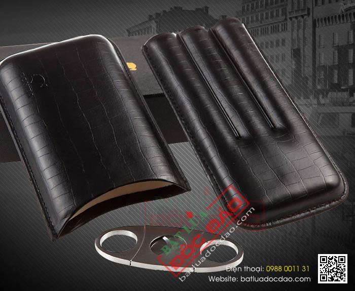 Set bao da đựng Cigar, dao cắt Cigar chính hãng Cohiba - Mã SP: BLP307B