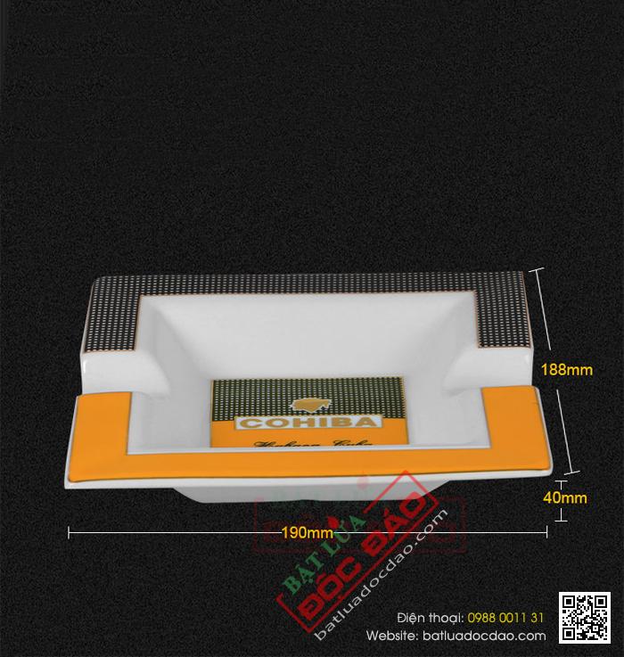 Mẫu gạt tàn xì gà Cohiba gốm sứ loại 2 điếu P5603A bán chạy nhất 1451448500-gat-tan-cigar-cohiba-gat-tan-xi-ga-cohiba-p5603a-02
