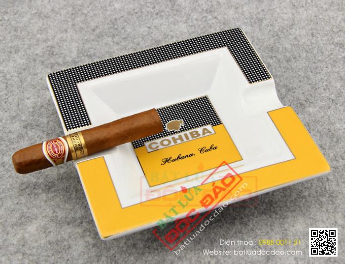 Địa chỉ mua gạt tàn xì gà loại sứ chính hãng Cohiba uy tín (5603A)