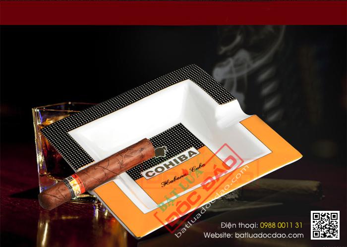 Mẫu gạt tàn xì gà Cohiba gốm sứ loại 2 điếu P5603A bán chạy nhất 1451448500-gat-tan-cigar-cohiba-gat-tan-xi-ga-cohiba-p5603a-2