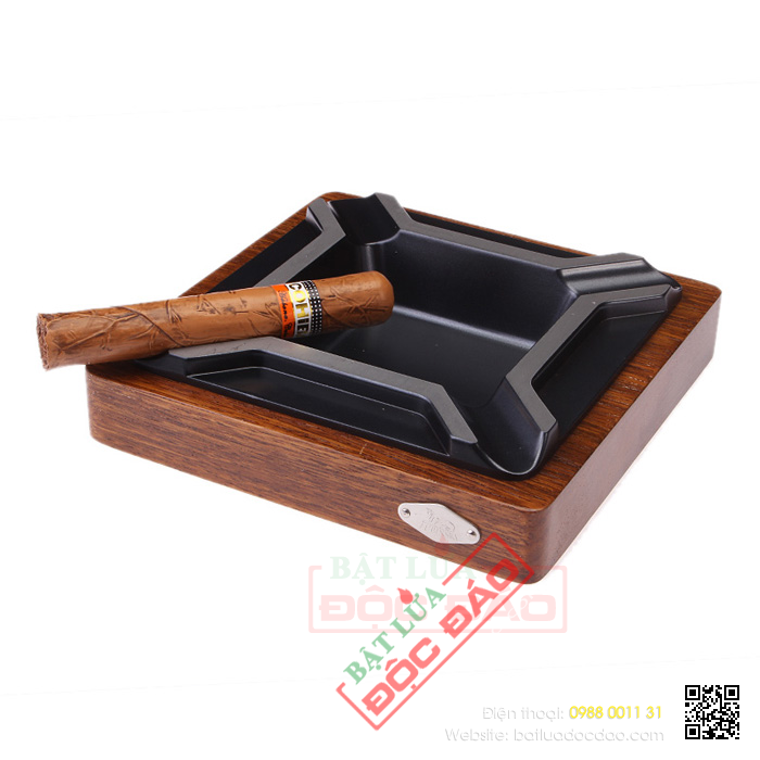 Bán gạt tàn cigar gỗ 4 điếu chính hãng Cohiba B071