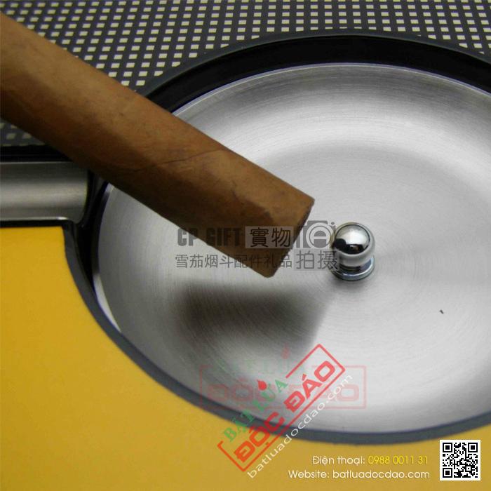 Gạt tàn Cigar Cohiba chính hãng màu vàng 2 điếu - Mã SP: BL0056
