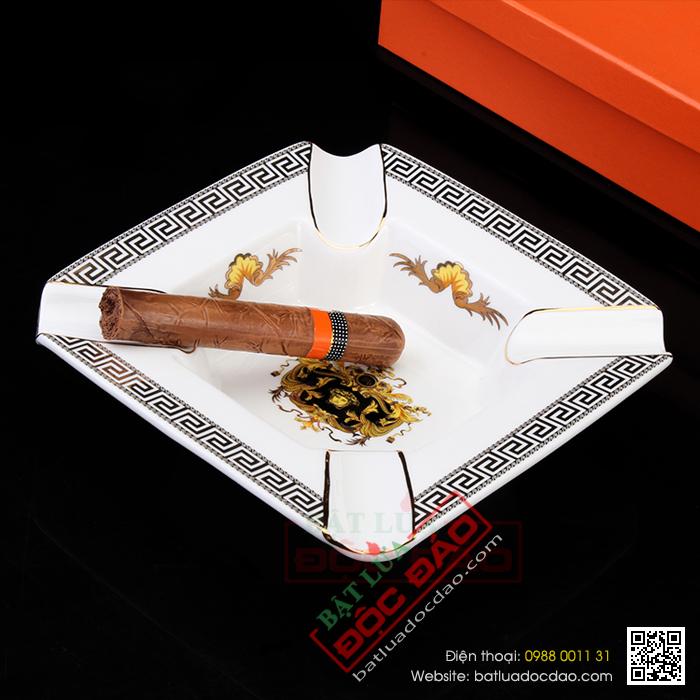 Quà tặng cao cấp cho sếp nam: gạt tàn xì gà gốm sứ 4 điếu Cohiba U004 1451470498-gat-tan-xi-ga-cohiba-gat-tan-cigar-cohiba-yu004-1