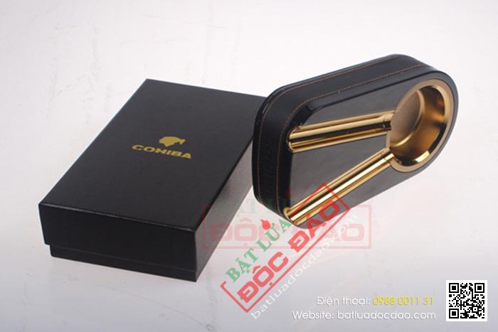 Gạt tàn Cigar Cohiba chính hãng màu đen 2 điếu - Mã SP: G201G