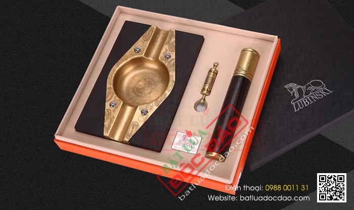 Set gạt tàn xì gà, ống đựng xì gà, đục xì gà Lubinski - Mã SP: LB-T25