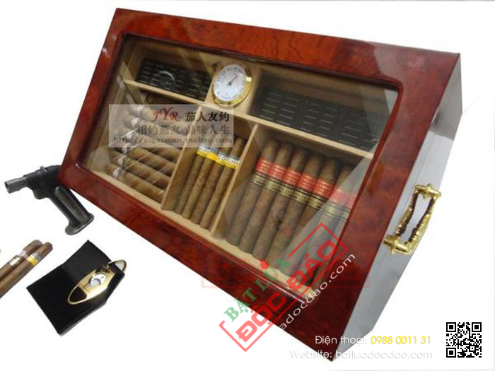 Hop bao quan Cigar xi ga Cohiba hcm