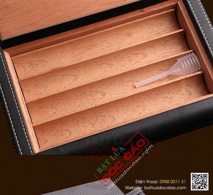 Bao da đựng Cigar Cohiba chất liệu da, gỗ tuyết tùng chính hãng - Mã SP: 0306