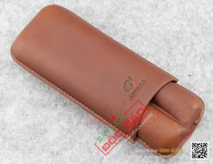 Bao da đựng Cigar Cohiba loại 2 điếu màu nâu chính hãng - Mã SP: 1202L