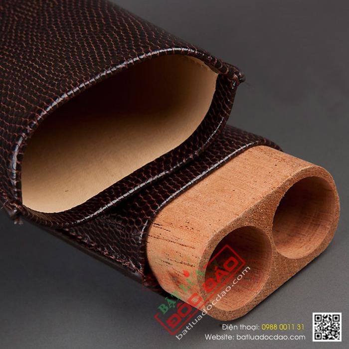 Bao da đựng Cigar Cohiba chất liệu da loại 3 điếu chính hãng - Mã SP: 5200L